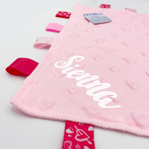 Pink Heart Comforters with Taggies