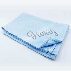 Plain Blue Fleece Wrap