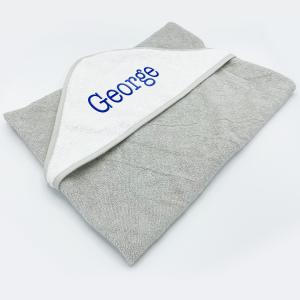 Baby Hooded Towel - Plain - Colour Grey