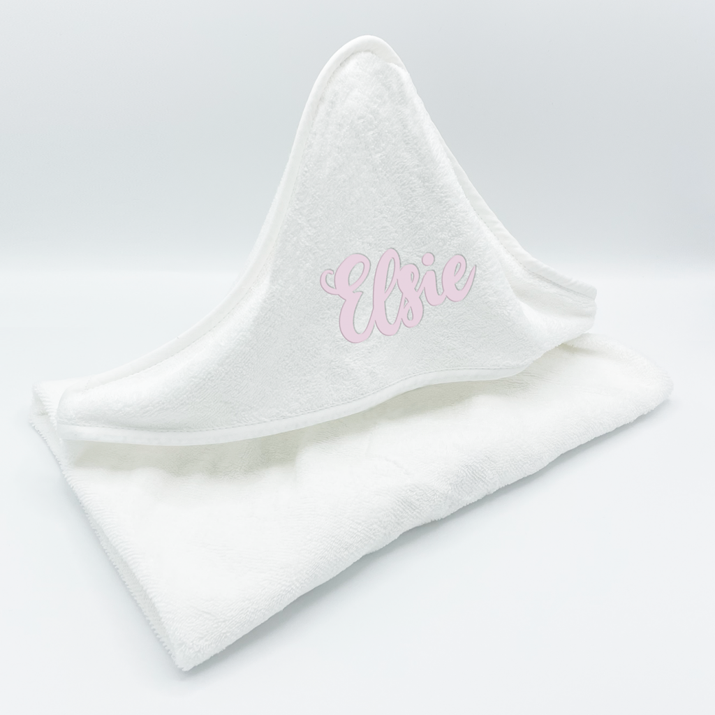 Baby Hooded Towel - Plain White