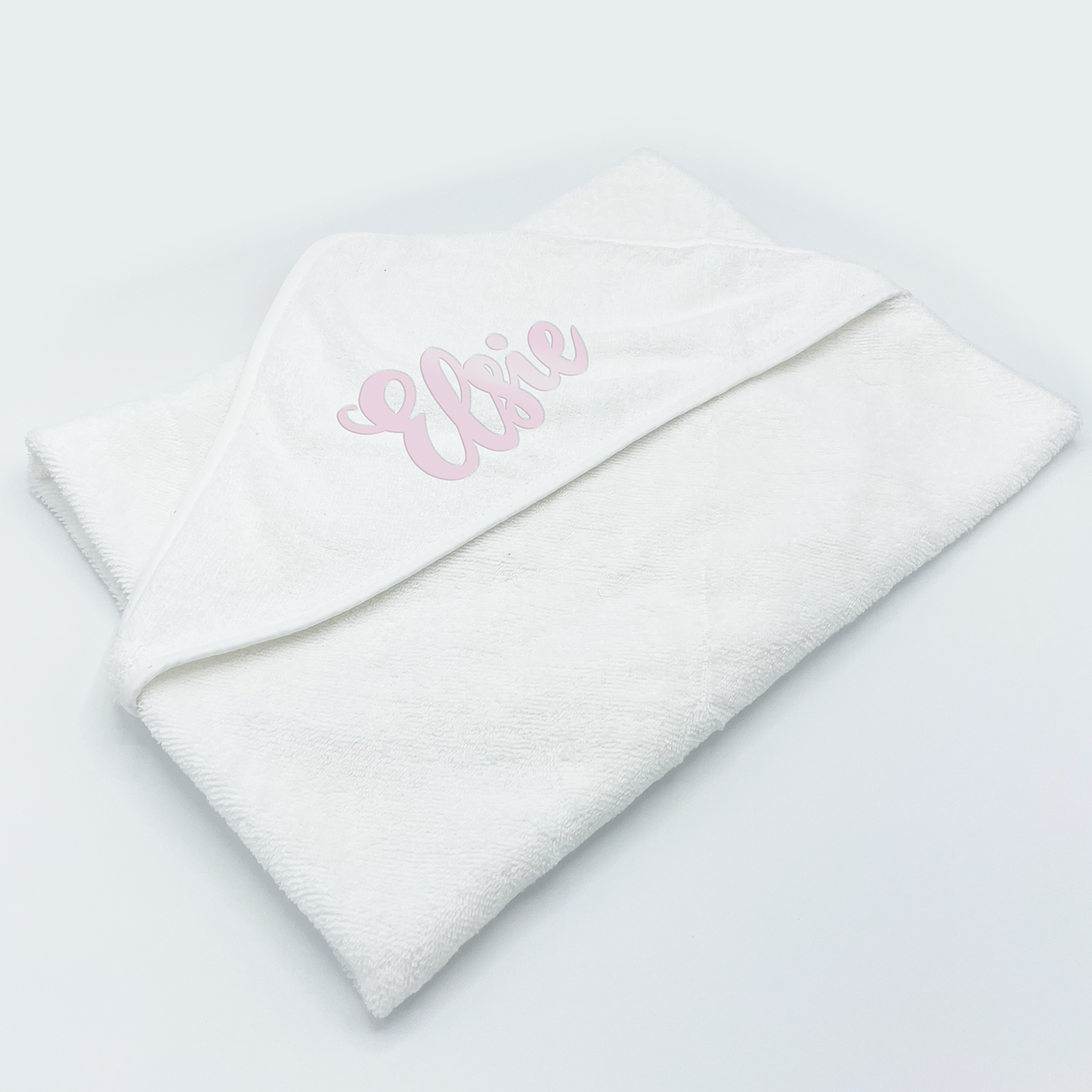 Baby Hooded Towel - Plain White