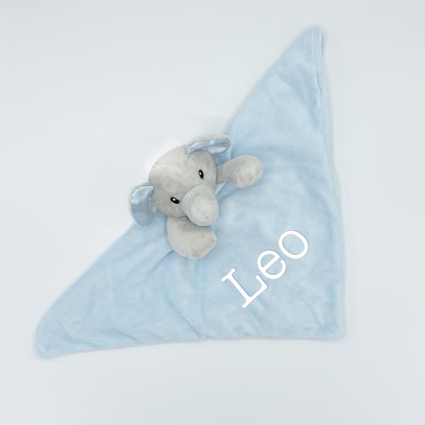 Baby Novelty Personalised Elephant Comforter- Blue
