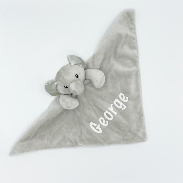 Baby Novelty Elephant Comforter - Grey