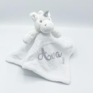 Baby Novelty Unicorn Comforter White