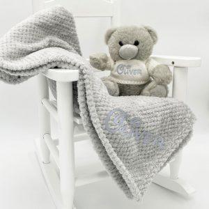 Personalised Unisex Grey Bear Gift Set