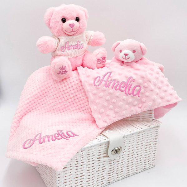 Personalised Bear Gift Set - Pink