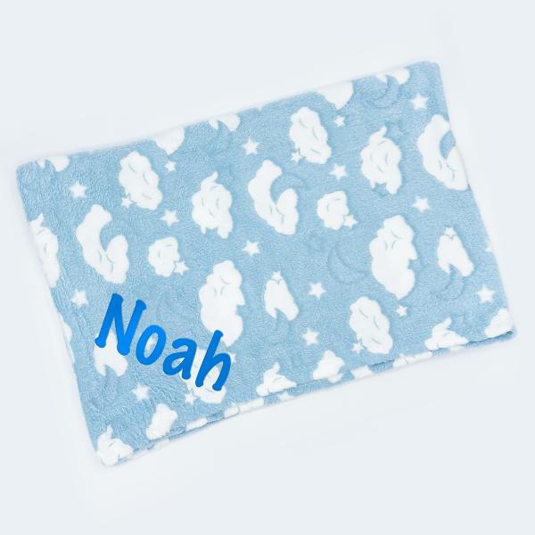 Blue Cloud Embossed Roll Wrap