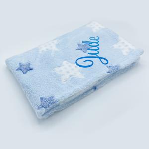Blue Star Printed Coral Fleece Wrap