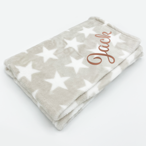 Elli & Raff Star Design Microplush Blanket