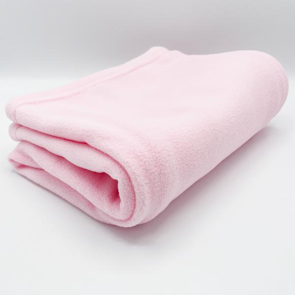 Plain Pink Fleece Wrap