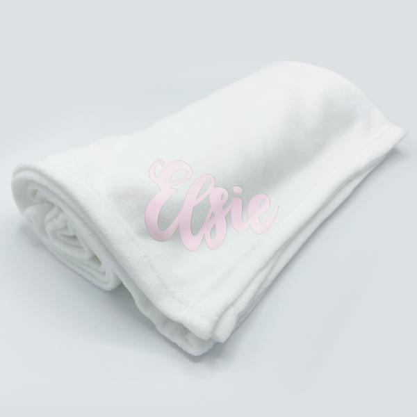Plain White Fleece Wrap