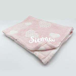 Supersoft Heart Fleece Baby Blanket