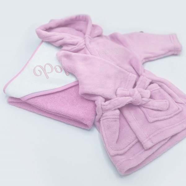 personalised bath time gift set for baby girls - in pink