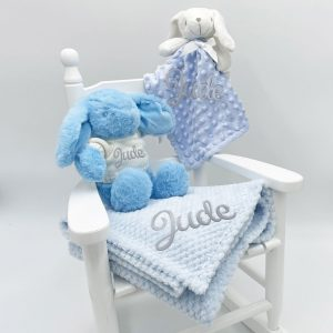 Personalised Blue Bunny Gift Set