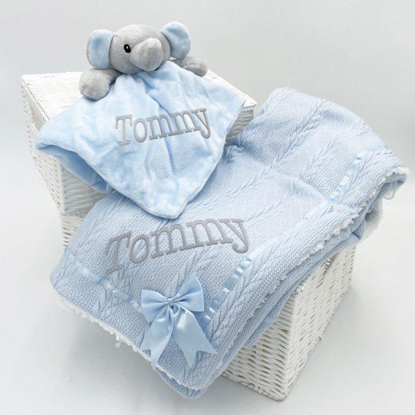 Personalised Elephant Gift Set - Blue