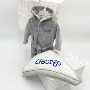 Personalised Bed Time Gift Set - Grey