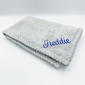 personalised grey waffle wrap blanket