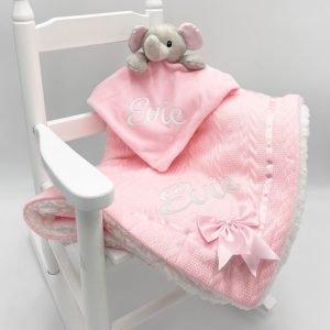 Personalised Elephant Gift Set - Pink