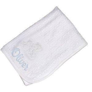 Personalised 3 Bears Baby Unisex White Blanket