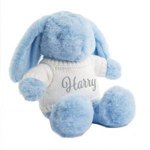 Blue Bunny Teddy Bear