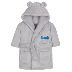 Grey Baby Town Dressing Gown with Ears