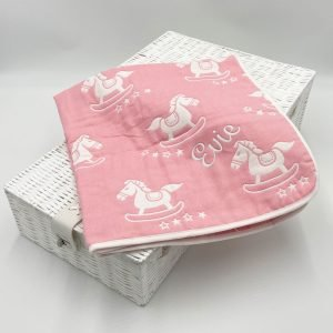 Pink rocking-horse-blanket
