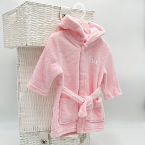 Personalised Baby Pink Dressing Gown
