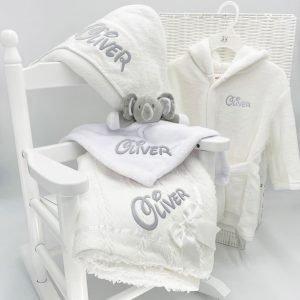 Personalised Baby Unisex Bundle Gift Set
