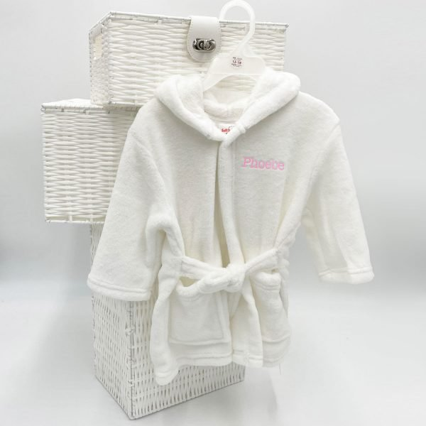 Personalised White Dressing Gown
